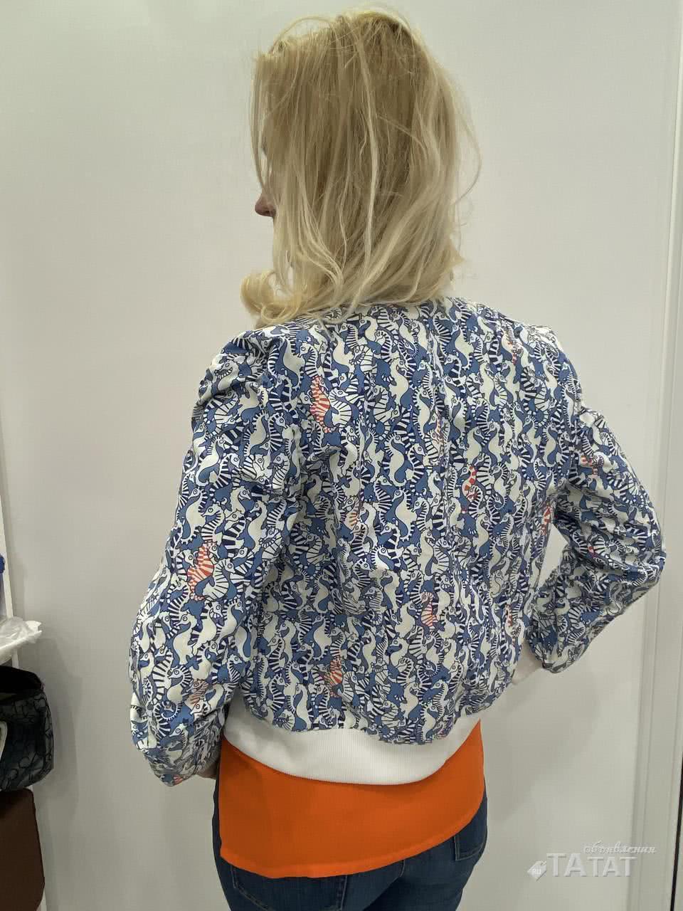 Куртка Бомбер женский с принтом